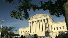 Supreme Court of the United States. In Washington, DC stock footage