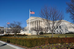 Supreme Court during Winter Stock Photos
