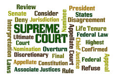 Supreme Court. Word cloud on white background Stock Photo