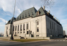 Supreme Court2. Side of Supreme Court of Canada in downtown Ottawa stock photo