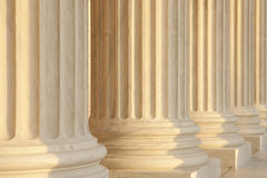 Supreme Courty Marble Columns Detail View Stock Photo