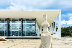 Supreme Federal Tribunal in Brasilia, Brazil Royalty Free Stock Image