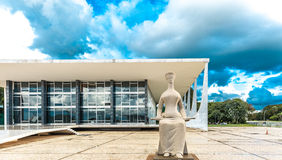 Supreme Federal Tribunal in Brasilia, Brazil.  Stock Photo