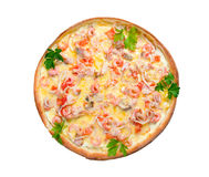 Supreme Pizza isolated royalty free stock images