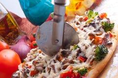 Supreme Pizza in pan Stock Photo