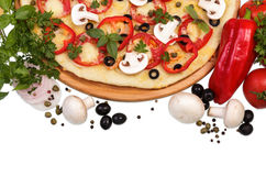 Supreme Pizza with vegetables Royalty Free Stock Image