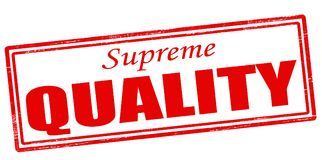Supreme quality. Rubber stamp with text supreme quality inside,  illustration Royalty Free Stock Images