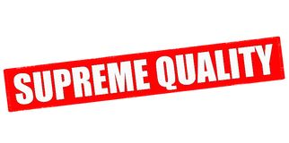 Supreme quality. Stamp with text supreme quality inside,  illustration Royalty Free Stock Image