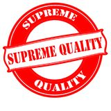 Supreme quality. Stamp with text supreme quality inside, vector illustration Stock Images