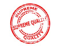 Supreme quality. Stamp with text supreme quality inside,  illustration Stock Image