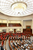 The Supreme Soviet (parliament) of Ukraine. Adoption of the state budget to the Supreme Soviet (Parliament) of Ukraine Stock Photography