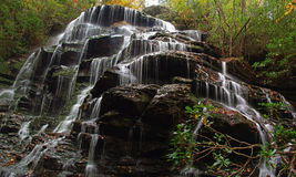 Supreme Waterfall. This is called The Falls on Yellow Branch and is located in South Carolina, U.S.A royalty free stock image