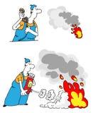 Supresión de fuego Imagen de archivo libre de regalías