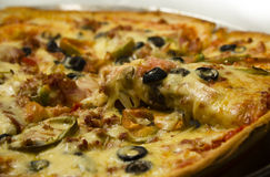 Suprime pizza Royaltyfria Bilder