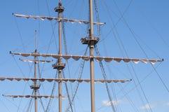 Suprir do navio de navigação de madeira grande Imagens de Stock Royalty Free