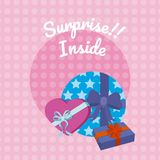 Suprise inside gift boxes. Colorful vector illustration graphic design vector illustration