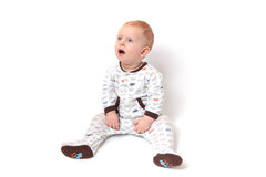 Suprised baby boy Royalty Free Stock Photography