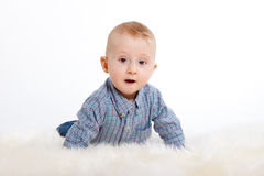 Suprised baby boy Royalty Free Stock Photo