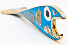 Suprised Blue Fish Bottle Opener Stock Photo
