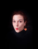 Suprised face expression... Royalty Free Stock Photography