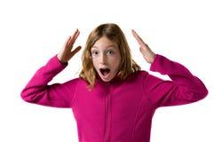 Suprised girl Stock Photo