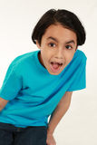 Suprised mixed race boy Stock Images