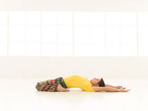 Supta virasana Royalty Free Stock Photography