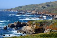 Тихоокеанское побережье, большое Sur, Калифорния, США Стоковые Изображения