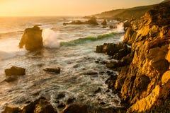 Большое Sur Coastine Стоковое Изображение RF