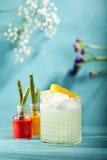 Sur coctail för vodka arkivbild