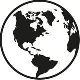 Sur de América de la tierra del planeta del globo y del norte stock de ilustración