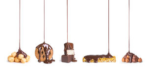 Sur des biscuits, chocolat, photos stock