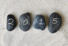 2015 sur des cailloux Photos libres de droits