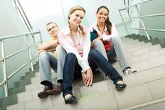 Sur des escaliers Photographie stock libre de droits