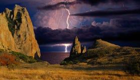 Sur des falaises de Kara Dag Image stock