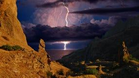 Sur des falaises de Kara Dag Photographie stock libre de droits
