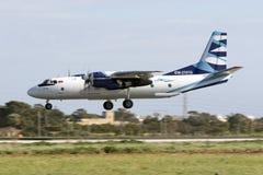 An-26 sur des finales Image stock