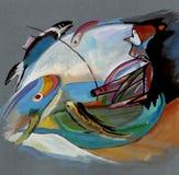Sur des motifs du ` s de Kandinsky illustration stock