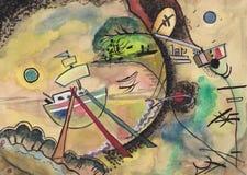 Sur des motifs du ` s de Kandinsky illustration libre de droits