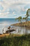 Sur des rivages de Ladoga. Image stock