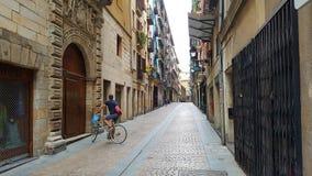 Sur des rues de Bilbao image libre de droits