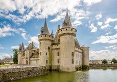 Sur el Loira de Sully del castillo francés Imagen de archivo libre de regalías