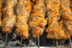 Sur heu le chiche-kebab image libre de droits
