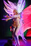 Sur l'étape dans une exposition spectaculaire de premier ministre de théâtre musical Photographie stock libre de droits