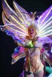 Sur l'étape dans une exposition spectaculaire de premier ministre de théâtre musical Photographie stock