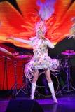 Sur l'étape dans une exposition spectaculaire de premier ministre de théâtre musical Photo libre de droits