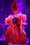 Sur l'étape dans une exposition spectaculaire de premier ministre de théâtre musical Image stock