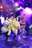 Sur l'étape dans une exposition spectaculaire de premier ministre de théâtre musical Image libre de droits