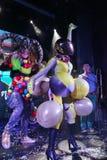 Sur l'étape dans une exposition spectaculaire de premier ministre de théâtre musical Photos libres de droits