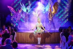 Sur l'étape dans une exposition spectaculaire de premier ministre de théâtre musical Images stock